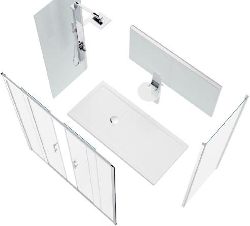Een bad vervangen door een douche - Novellini - be